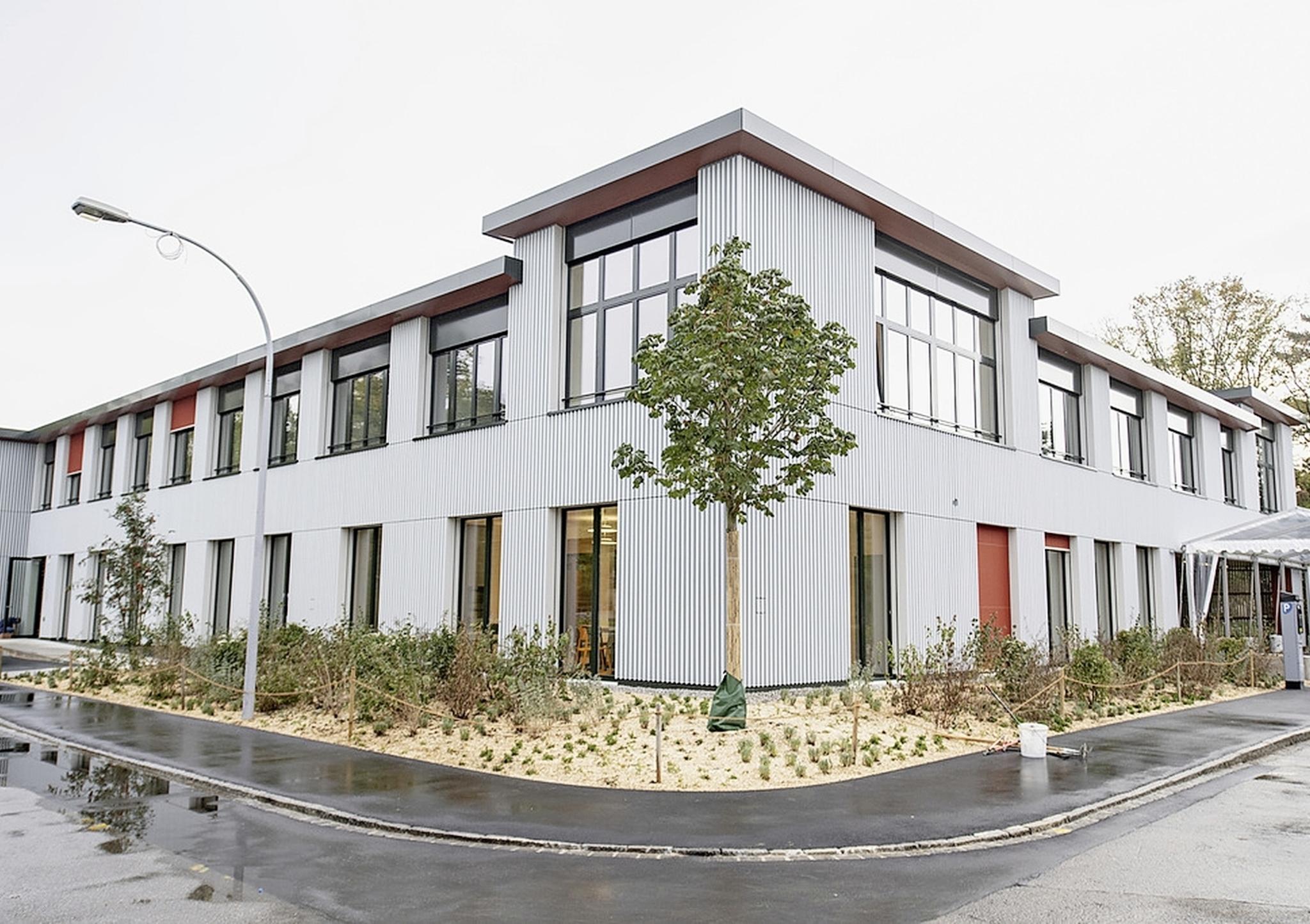Aussenansicht des Neubaus der UPK Klinik fuer Kinder und Jugendliche an den Universitaeren Psychiatrischen Kliniken Basel, am Freitag, 27. September 2019, in Basel. (KEYSTONE/Urs Flueeler)